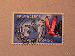 TRINIDAD & TOBAGO 1962. Independence - 60c. Scarlet Ibis And Map. Used.SG304 - Trinidad & Tobago (1962-...)