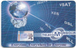 Mongolia - Telecom Mongolia (Chip) - Globe - Gem5 Black, 150Units, Used - Mongolië