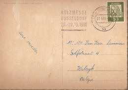 Germany & Marcofilia,  Triton Am Corneliusplatz, Düsseldorf, Wilrijk Belgium 1961 (7999) - Storia Postale