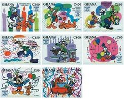 Ref. 593929 * MNH * - GHANA. 1995. 60th ANNIVERSARY OF DONALD DUCK . 60 ANIVERSARIO DEL PATO DONALD - Ghana (1957-...)