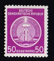 DDR 1954, Michel # D 14x ** - Service