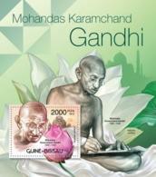 Guinea-Bissau, 2012. [gb12313] M.K.Gandhi (1869-1948) & Flowers, (Nelumbo Nucifera) (s\s+block) - Mahatma Gandhi