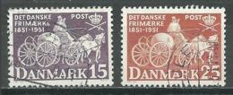 Danemark YT N°341/342  Centenaire Du Timbre Oblitéré ° - Denmark