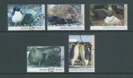 Australian Antarctic Territory 1992 Wildlife Series I Set Of 5 FU Melbourne CTO - Used Stamps