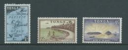 Tonga 1953 1/- Map , 2/- Beach & 5/- Bounty M - Tonga (...-1970)