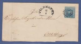 Bayern Quadratausgabe 3 Kreuzer Blau Mi-Nr. 2 II Auf Brief Aus VILSHOFEN GMR 362 - Beieren