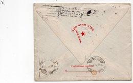 LSC 1925 - RED STAR LINE Enveloppe De NYC Pour Paris - Cachet GRAND CENT. STATION Sur Timbres - Marcophilie