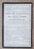 Josephus Poortmans, Weduwenaar Van M.C.Michiels, Echtgenoot Van M.T. De Laet - Norderwijck 27/05/1829 - Lichtaart 10 ... - Todesanzeige