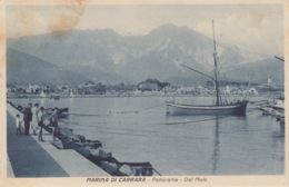 CARTOLINA - MARINA DI CARRARA - PANORAMA - DAL MOLO - VIAGGIATA 1939 - Carrara