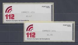 Portugal 2011 ATM Notrufnummer 112  Mi.-Nr. 77.2 Satz 2 Werte ** - Frankeervignetten (ATM/Frama)