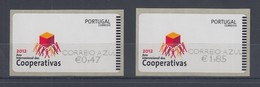 Portugal 2012 ATM Genossenschaften  Mi.-Nr. 78.3 Z2 AZUL Satz 2 Werte ** - Frankeervignetten (ATM/Frama)