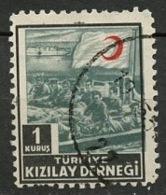 Turquie - Türkei - Turkey Bienfaisance 1946-47 Y&T N°B131 - Michel N°B175 (o) - 1k Croissant Rouge - Wohlfahrtsmarken