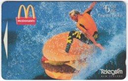NEW ZEALAND A-842 Magnetic Telecom - Advertising, Fodd, McDonalds - 141BO - Used - New Zealand