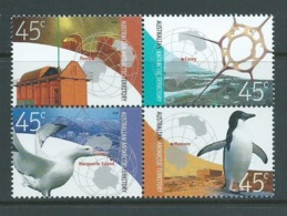Australian Antarctic Territory 2002 Stations & Bases Set 4 In Block Se Tenant MNH - Unclassified