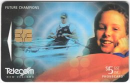 NEW ZEALAND A-920 Chip Telecom - Sport, Rowing - Used - New Zealand