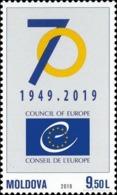 2019 , Moldova  , Moldavie , Moldau , 70th Anniversary Of The Council Of Europe , MNH - Moldova