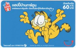THAILAND E-010 Prepaid Happy - Comics, Garfield - Used - Tailandia