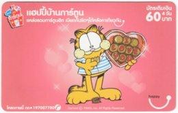 THAILAND E-012 Prepaid Happy - Comics, Garfield - Used - Tailandia