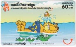 THAILAND E-013 Prepaid Happy - Comics, Garfield - Used - Tailandia