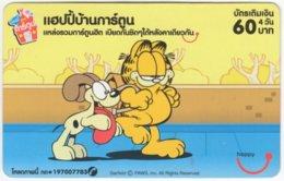 THAILAND E-016 Prepaid Happy - Comics, Garfield - Used - Tailandia