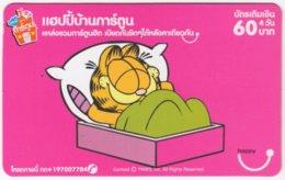 THAILAND E-017 Prepaid Happy - Comics, Garfield - Used - Tailandia