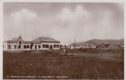 CARTOLINA -MARINA DI CARRARA - STABILIMENTO BALNEARE -  (MASSA-CARRARA) -VIAGGIATA 1939 - Massa
