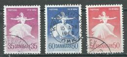 Danemark YT N°382-411-441 Ballets Nationaux Et Festival De Musique à Copenhague Oblitéré ° - Denmark
