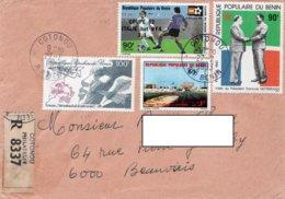 LSC 1983 - Recommandé Et Cachets COTONOU Sur Timbres - Benin