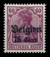 BES 1WK LP BELGIEN Nr 21a Ungebraucht X77B366 - Occupation 1914-18