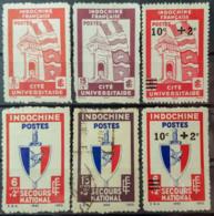 INDOCHINE 1943/44 - MNG/canceled - YT 278, 279, 280, 281, 282, 283 - Neufs