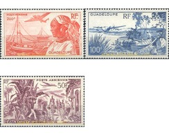 Ref. 269000 * HINGED * - GUADELOUPE. 1947. BASIC SET . SERIE BASICA - Unused Stamps