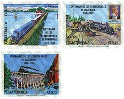 Ref. 58384 * MNH * - GUATEMALA. 1983. CENTENARY OF THE GUATEMALA RAILWAY . CENTENARIO DEL FERROCARRIL EN GUATEMALA - Guatemala