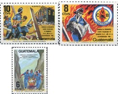 Ref. 321230 * MNH * - GUATEMALA. 1986. FIREMEN . BOMBEROS - Guatemala