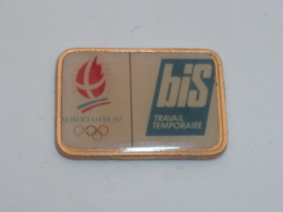 Pin's ALBERTVILLE 92, SPONSOR BIS TRAVAIL TEMPORAIRE B - Juegos Olímpicos