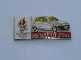 Pin's ALBERTVILLE 92, RENAULT CLIO - Juegos Olímpicos