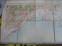 HERAULT :CARTE De La Côte Du LANGUEDOC Depuis SETE à MARTIGUES- Echelle 1/200 000 Feuille 73 - 1905 - Voir Les Scans - Geographical Maps
