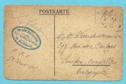 """Kaart Met Stempel PMB 5 Op 1/1/20 Stempel """" 16 Reg. D'ARTILLERIE / II° GROUPE / 3° BATTERIE"""" - Postmark Collection"""