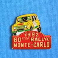 1 PIN'S //  ** RENAULT 4 OU 4L / 1992 / 36ème TOUR DE CORSE HISTORIQUE ** . (AMC Diffusion) - Rallye
