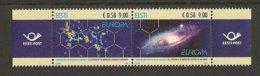 "ESTONIA / ESTLAND / EESTI - EUROPA 2009 - TEMA ""ASTRONOMIA"" -   SERIE De 2 V. SE-TENANT DENTADA (PERFORATED) - Europa-CEPT"