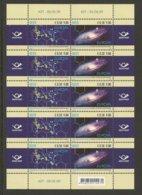 """ESTONIA / ESTLAND / EESTI - EUROPA 2009 - TEMA """"ASTRONOMIA"""" -  HOJA BLOQUE Con 5 SERIES De 2 V. SE-TENANT DENTADA - Europa-CEPT"""
