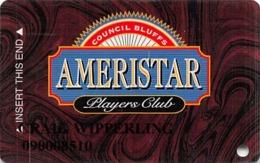 Ameristar Casino Council Bluffs, IA - Slot Card - CPICA 2005320 Over Mag Stripe - Casino Cards
