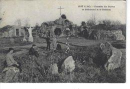 44 - LEGE - T.B. Vue Animée De L'ensemble Des Grottes De Gethsémani Et De Bethléem - Legé