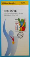 OLYMPIC GAMES 2016. RIO DE JANEIRO - Croatian Post Postage Stamp Prospectus * Jeux Olympiques Olympia Olympiade Olimpici - Summer 2016: Rio De Janeiro