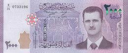 SYRIA 2000 LIRA POUNDS 2017 P-117 UNC */* - Syrië