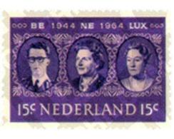 Ref. 102790 * MNH * - NETHERLANDS. 1964. 20th ANNIVERSARY OF BENELUX . 20 ANIVERSARIO DEL BENELUX - Periodo 1949 - 1980 (Giuliana)