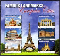 St Vincent 2016 European Landmarks Sheetlet Unmounted Mint. - St.Vincent (1979-...)
