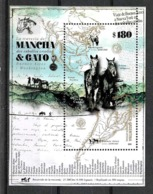 ARGENTINA ARGENTINE 2019 FAUNE FAUNA HORSES CHEVAUX PFERDEN SOUV SHEET,BLOC,NEUF MNH,POSTFRISCH - Paarden