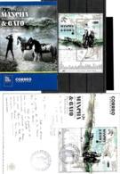 ARGENTINA ARGENTINIEN 2019 PFERDEN HORSE BLOC,SOUV/SHEET POSTFRISCH+ERSTTAGBRIEF+PROSPEKT - Blocks & Kleinbögen