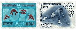 Ref. 26616 * MNH * - INDIA. 1972. GAMES OF THE XX OLYMPIAD. MUNICH 1972 . 20 JUEGOS OLIMPICOS VERANO MUNICH 1972 - Rasenhockey
