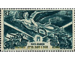 Ref. 596472 * HINGED * - FRENCH INDIA. 1946. ANNIVERSARY OF  VICTORY . ANIVERSARIO DE LA VICTORIA - Indien (1892-1954)